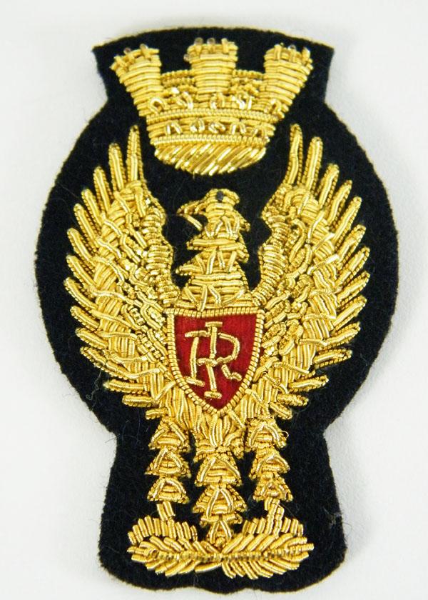 Fregio berretto Polizia di Stato ricamato in canottiglia colore oro