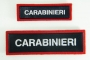 Scritta Carabinieri plastica