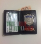 Portafoglio con placca Polizia di Stato